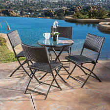 Lakeview Outdoor Furniture by Everglades 5 Piece Honey Resin Wicker Patio Dining Set By Lakeview