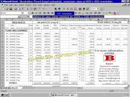 Fixed Asset Register Excel Template Spreadsheet Solutions Bales Chartered Accountants
