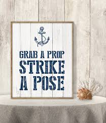 wedding wishes nautical grab a prop strike a pose wedding photo booth sign diy