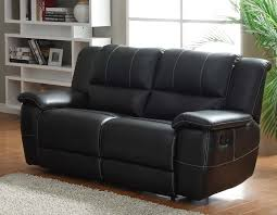 Black Leather Reclining Sofa Homelegance Cantrell Reclining Sofa Set Black Bonded Leather