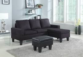 microfiber sectional with ottoman black microfiber sectional w storage ottoman kassa mall home furniture