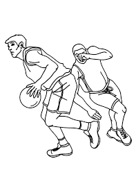 basketball coloring pages nba nba player drive through the basket coloring page color luna