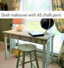 Chalk Paint Desk by Desk Makeover Using Annie Sloan Chalk Paint Debbiedoos