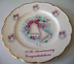 40th anniversary plate vintage ruby 40th anniversary 8 plate 7 40th wedding