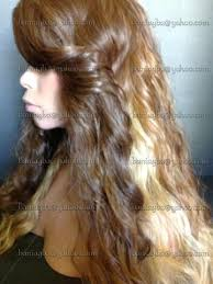 honey brown hair with blonde ombre brown honey auburn blonde ombre trio lace front edge wig