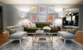 jonathan adler lampert sofa navy zebra rug contemporary living room jonathan adler