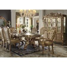 acme dining room furniture acme 63150 dresdan gold dining set contemporary dinning room