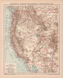 map of oregon nevada usa nevada california oregon arizona idaho utah lithograph 1892
