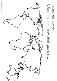 map continents coloring page