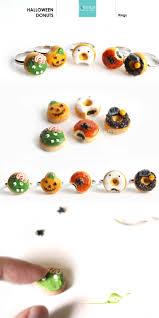 gruesomely cute halloween doughnut rings la nostalgie