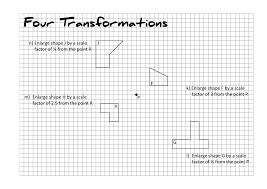 Transformations Geometry Worksheet Maths Resources Taylorda01
