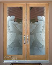 Frosted Glass Exterior Door Front Doors With Glass Side Panels In White Banana Leaves D Door