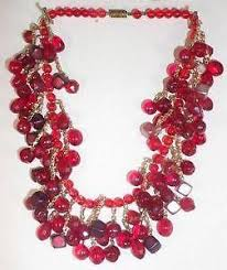 bead necklace ebay images Red bead necklace ebay JPG