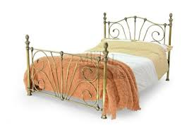 Brass Double Bed Frame Metal Beds Mandalay 4ft 6 135cm Double Antique Brass Bed Frame