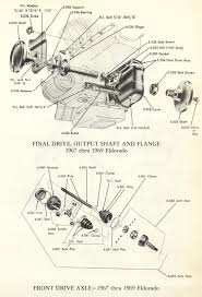 1967 1968 1969 cadillac eldorado final drive output shaft