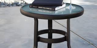 Small Outdoor Bistro Table Patio U0026 Pergola Copper Coffee Table Side Table With Umbrella
