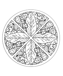 autumn leaves coloring pages for adults justcolor