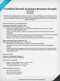 Examples Of Skills In A Resume by Dental Resume Examples U0026 Writing Tips Resume Companion
