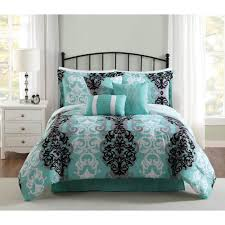 Male Queen Comforter Sets Anytime Solid Turquoise And Grey Reversible Full Queen Comforter