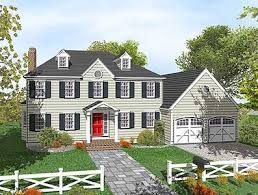two colonial house plans two colonial with open floor plan 9551dm architectural