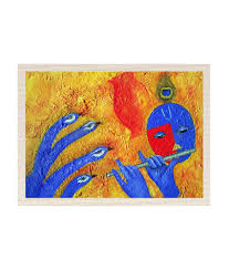 Canvas Without Frame Mesleep Lord Krishna Canvas Painting Without Frame Combo Buy