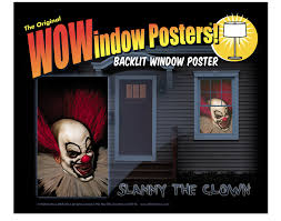 window posters clown window poster decorations props