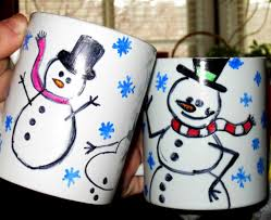 winter craft project how to make snowman mugs to celebrate world
