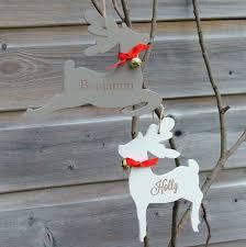 Personalised Reindeer Christmas Tree Decorations by Personalised Engraved Reindeer Decoration By Seahorse