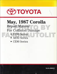 1992 toyota corolla repair shop manual original