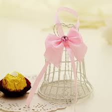 wedding candy favors wedding candy favor box simple ribbon flower iron bell