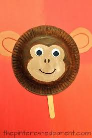 Paper Plate Monkey Craft - paper plate monkey mask craft for crafts