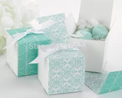 where to buy present boxes 250 pieces lot new design favor box reversible aqua damask wrap