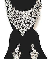 bridal necklace jewelry images Silver bridal jewelry set bridesmaids jewelry bridal necklace set jpg