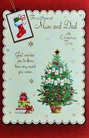 mum u0026 dad christmas card