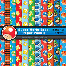 mario wrapping paper free mario bros digital paper pack 2 mario bros