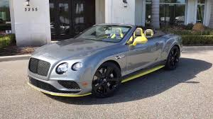 grey bentley bentley gtc speed with cyber yellow accents bentley tampa bay