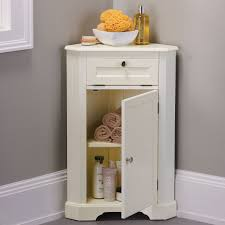 Powder Room Storage Solutions Weatherby Bathroom Corner Storage Cabinet Corner Storage