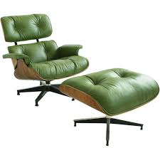 Lounge And Ottoman Charles Eames Charles Eames Leather Lounge And Green Leather