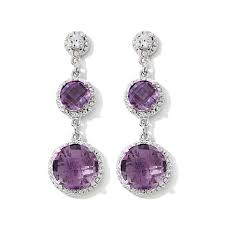 amethyst drop earrings amethyst drop earrings in 14k white gold shop for jewelry