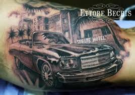 car miami by ettore bechis tattoonow