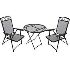 Wrought Iron Patio Bistro Set Jordan Manufacturing Wrought Iron Folding 3 Piece Outdoor Bistro