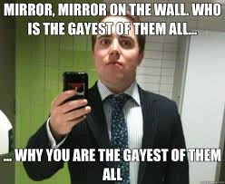 Gayest Meme Ever - mirror mirror on the wall who is the gayest of them all
