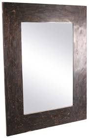rectangular wall mirror with mango wood u0026 horn frame u2013 black