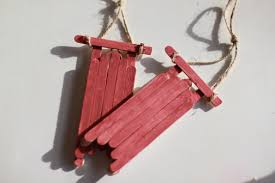 a simple diy classic sled ornaments the simple