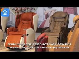 Osim Uastro Zero Gravity Massage Chair Osim Massage Products Youtube
