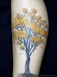 93 tremendous tree tattoos on leg
