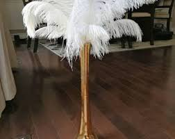 Feather Vase Centerpieces by Ostrich Feather Centerpiece With Pearls Inside Eiffel Tower