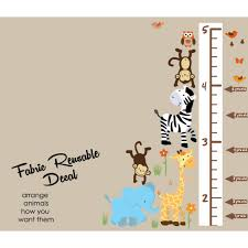 growth chart wall decals height wall chart stickers for measuring colorful jungle tree wall decal with children s wall growth chart for kids rooms