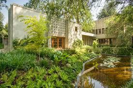 frank lloyd wright inspired home with lush landscaping frank lloyd wright s iconic la miniatura millard house hits the