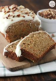 carrot cake quick bread with cream cheese frosting a kitchen